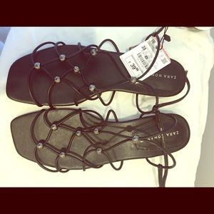 Zara sandals.new with tags size 8